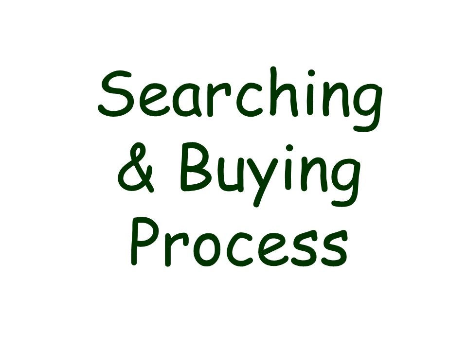 Searching & Buying Process
