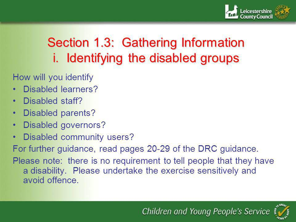 Section 1.3: Gathering Information i.