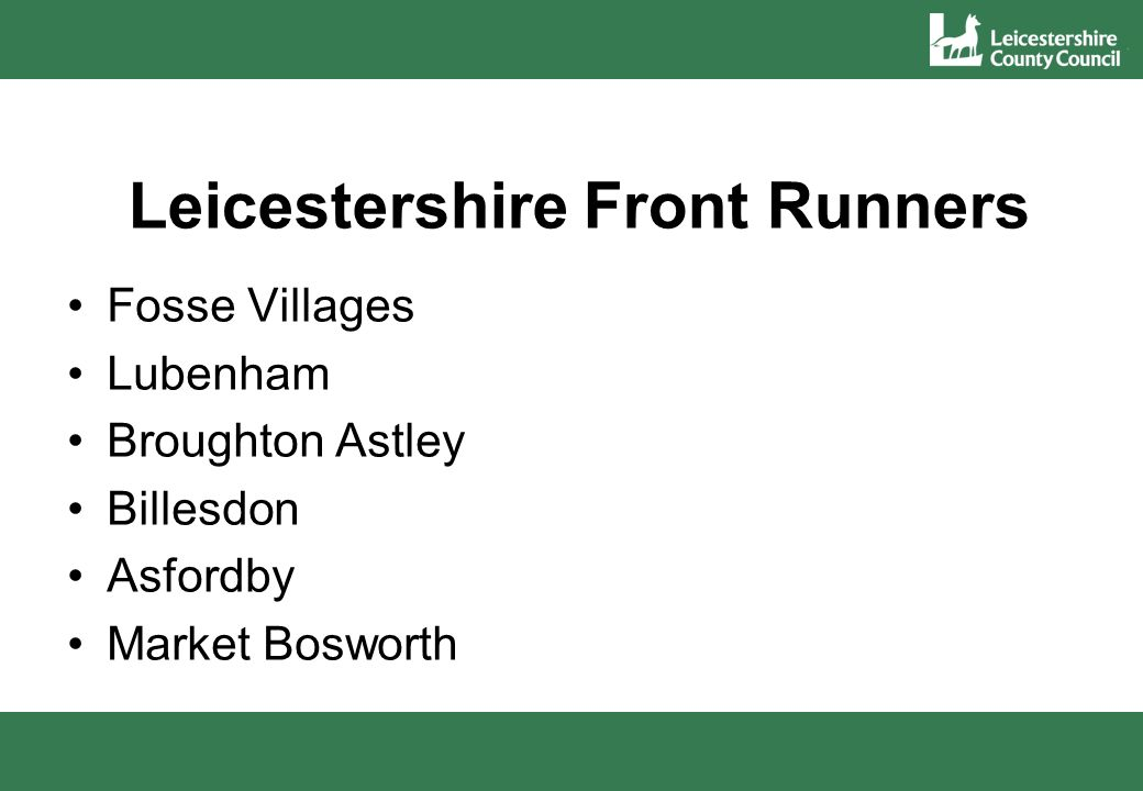 Leicestershire Front Runners Fosse Villages Lubenham Broughton Astley Billesdon Asfordby Market Bosworth
