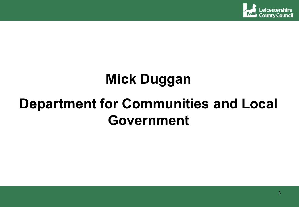 3 Mick Duggan Department for Communities and Local Government