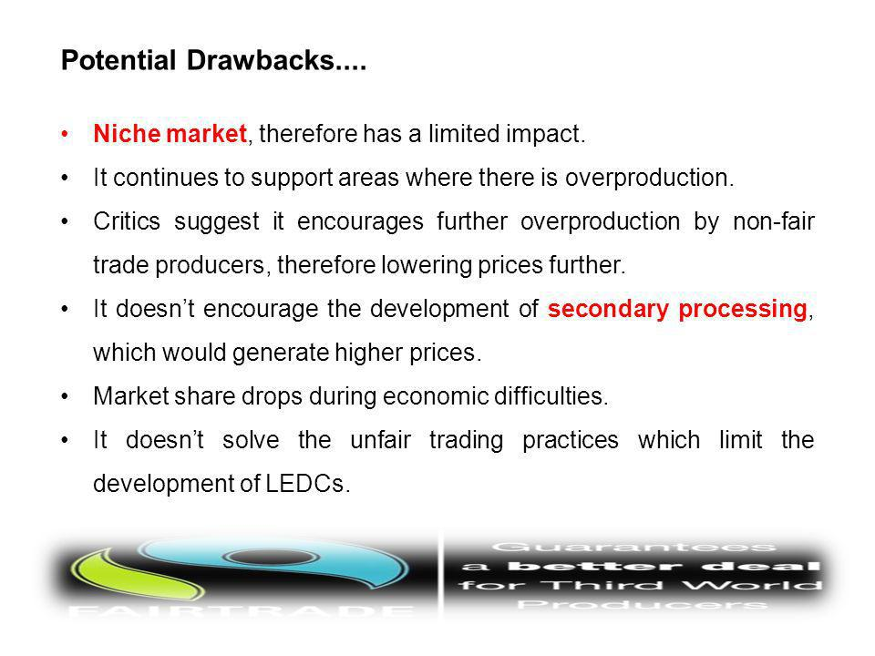 Potential Drawbacks.... Niche market, therefore has a limited impact.