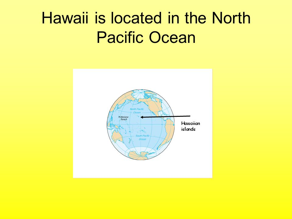 Hawaii is located in the North Pacific Ocean