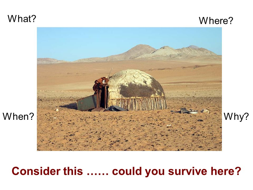 Consider this …… could you survive here What Where When Why