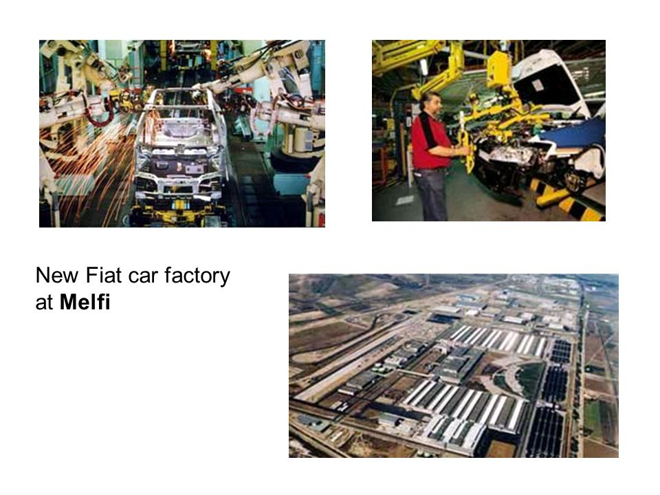New Fiat car factory at Melfi