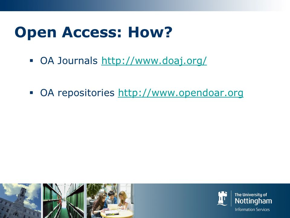 Open Access: How.