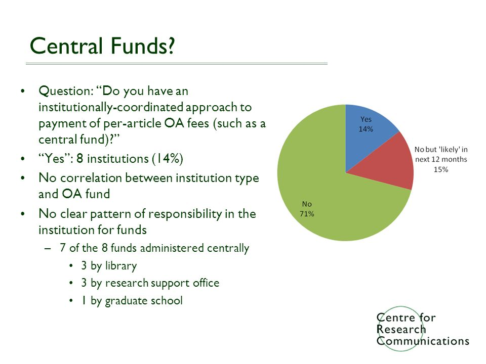 Central Funds.