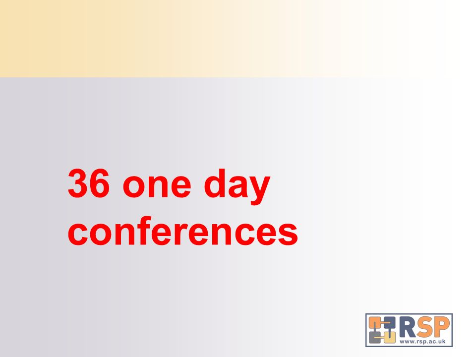 36 one day conferences