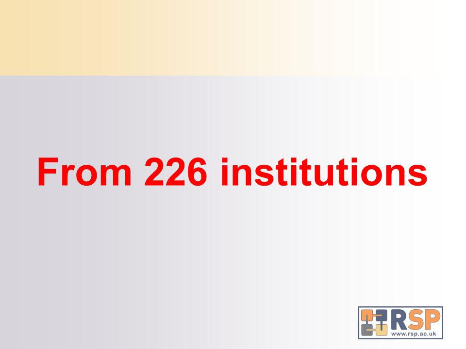 From 226 institutions