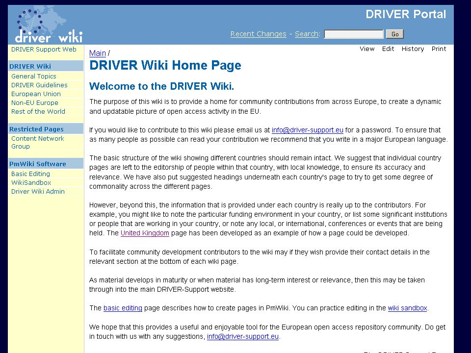 DRIVER Review, Athens 15 February 2008 wiki