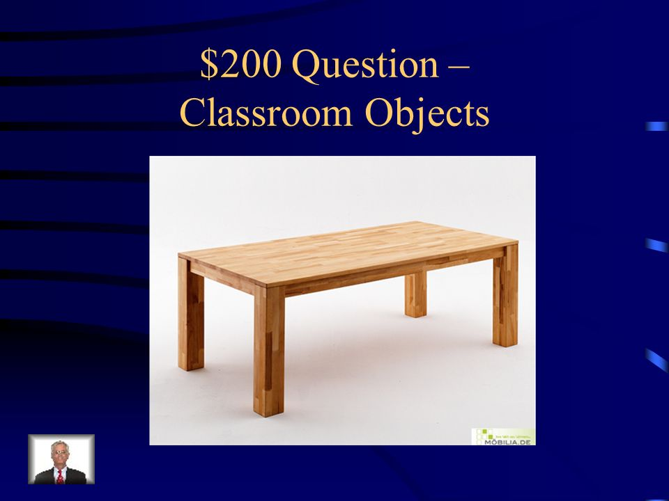 $100 Answer – Classroom Objects Was ist…die Fahne