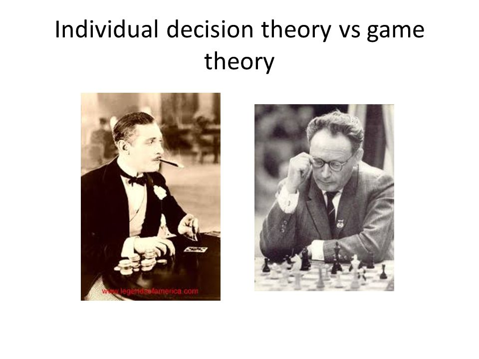 Individual decision theory vs game theory