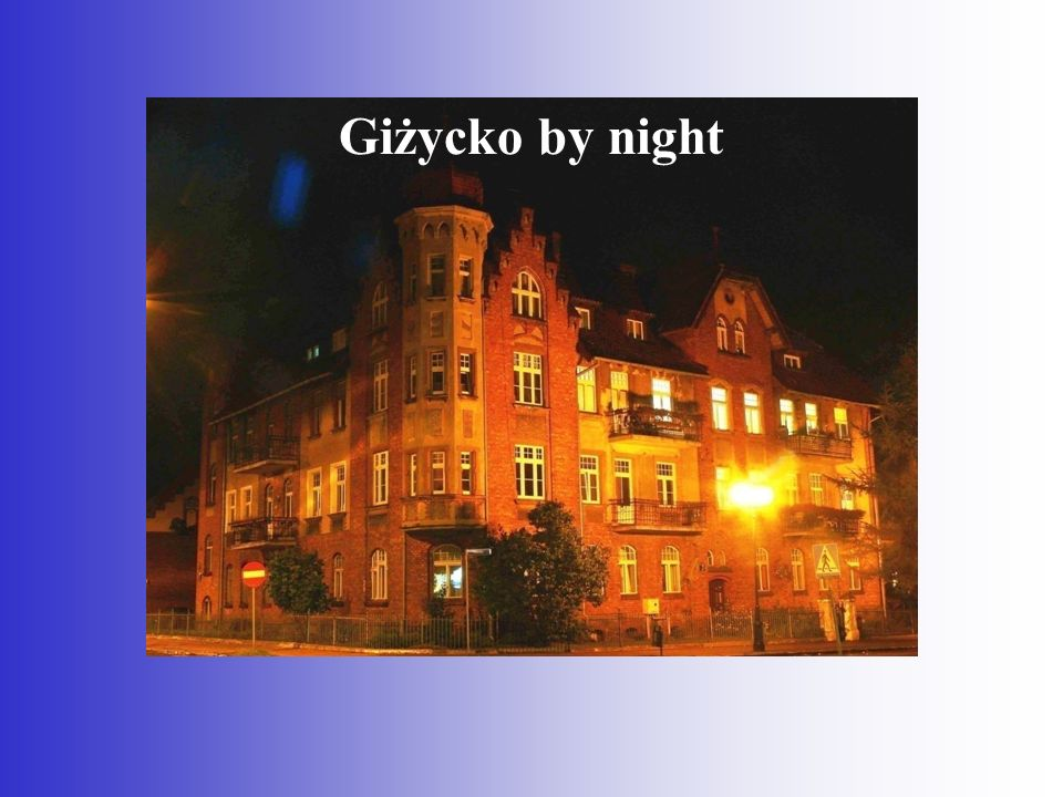 Giżycko by night