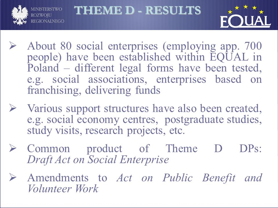 About 80 social enterprises (employing app.