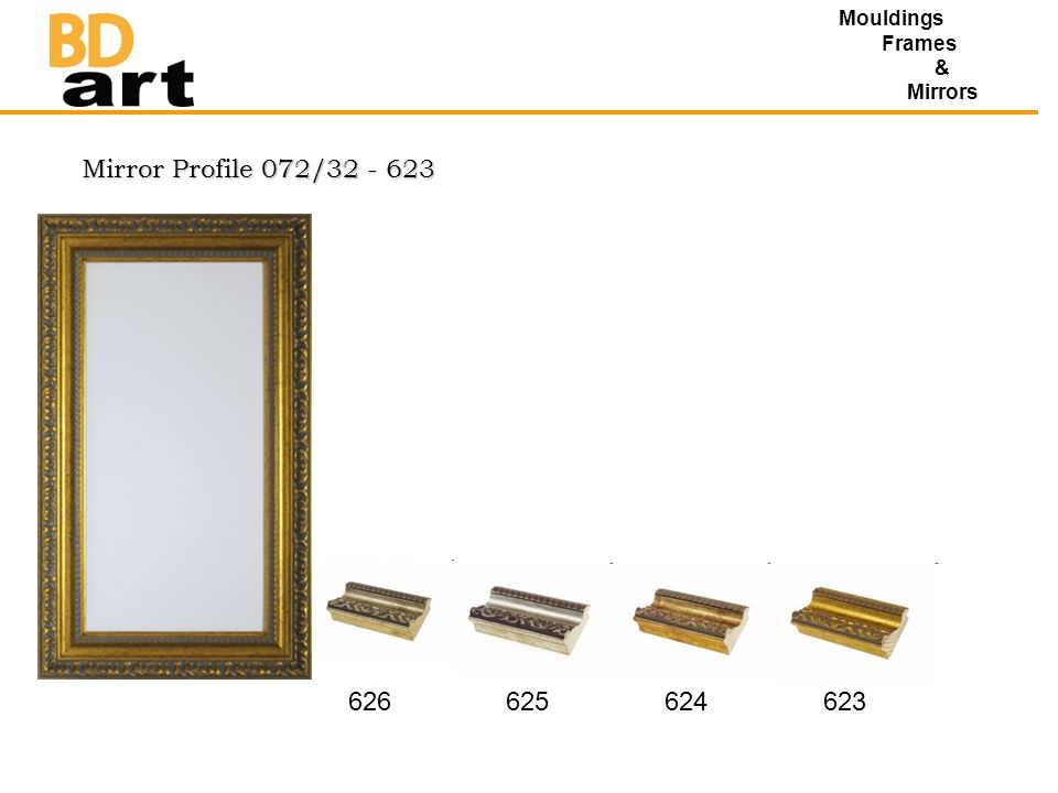 Mirror Profile 072/32 - 623 Mouldings Frames & Mirrors 626625624623