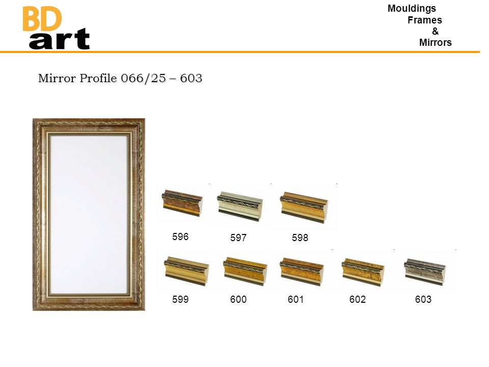 Mirror Profile 066/25 – 603 Mouldings Frames & Mirrors 596 597598 599600601602603