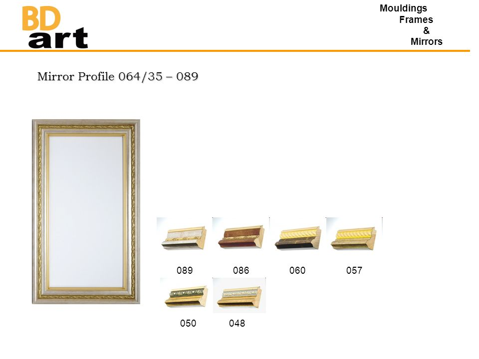 Mirror Profile 064/35 – 089 Mouldings Frames & Mirrors 089086060057 050048