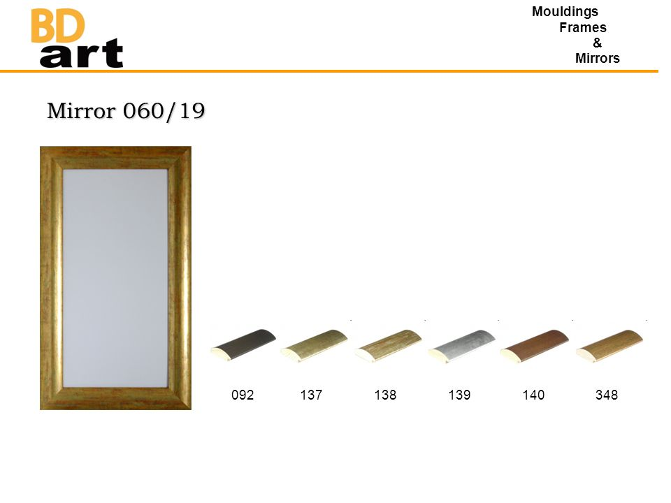 Mirror 060/19 Mouldings Frames & Mirrors 092137138139140348