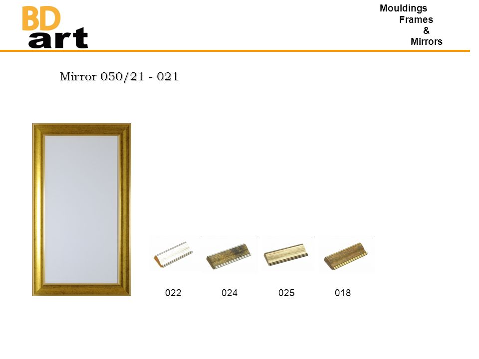 Mirror 050/21 - 021 Mouldings Frames & Mirrors 022024025018