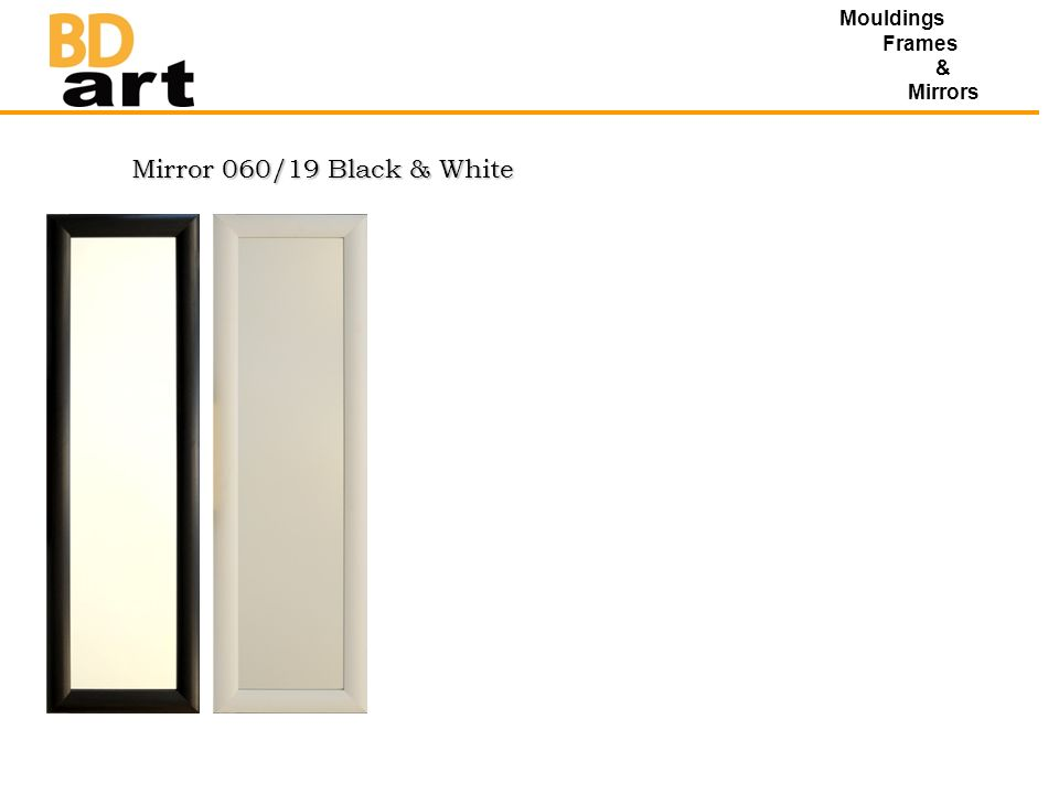Mirror 060/19 Black & White Mouldings Frames & Mirrors