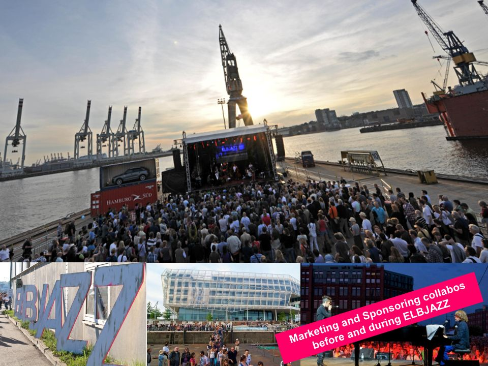 Marketing and Sponsoring collabos before and during ELBJAZZ