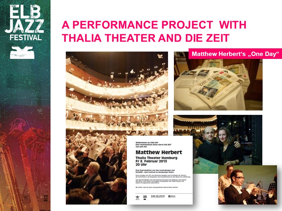 A PERFORMANCE PROJECT WITH THALIA THEATER AND DIE ZEIT Matthew Herberts One Day