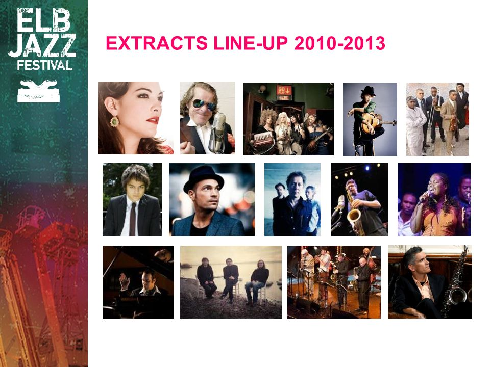 EXTRACTS LINE-UP 2010-2013