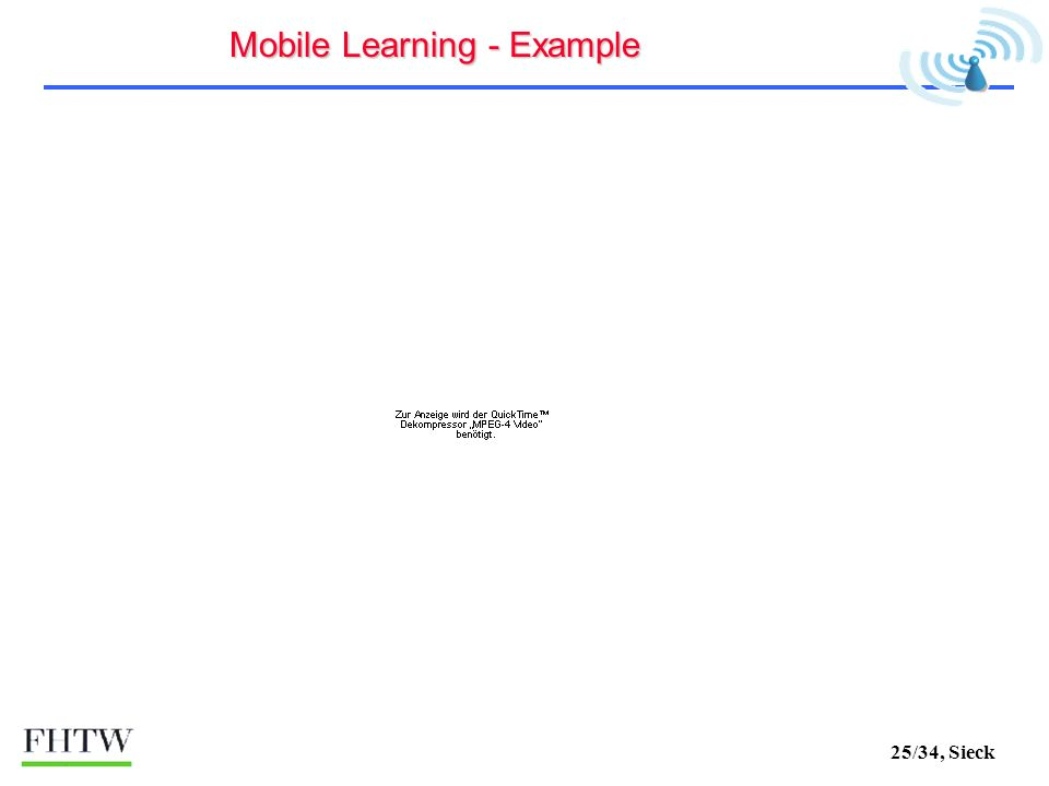 25/34, Sieck Mobile Learning - Example