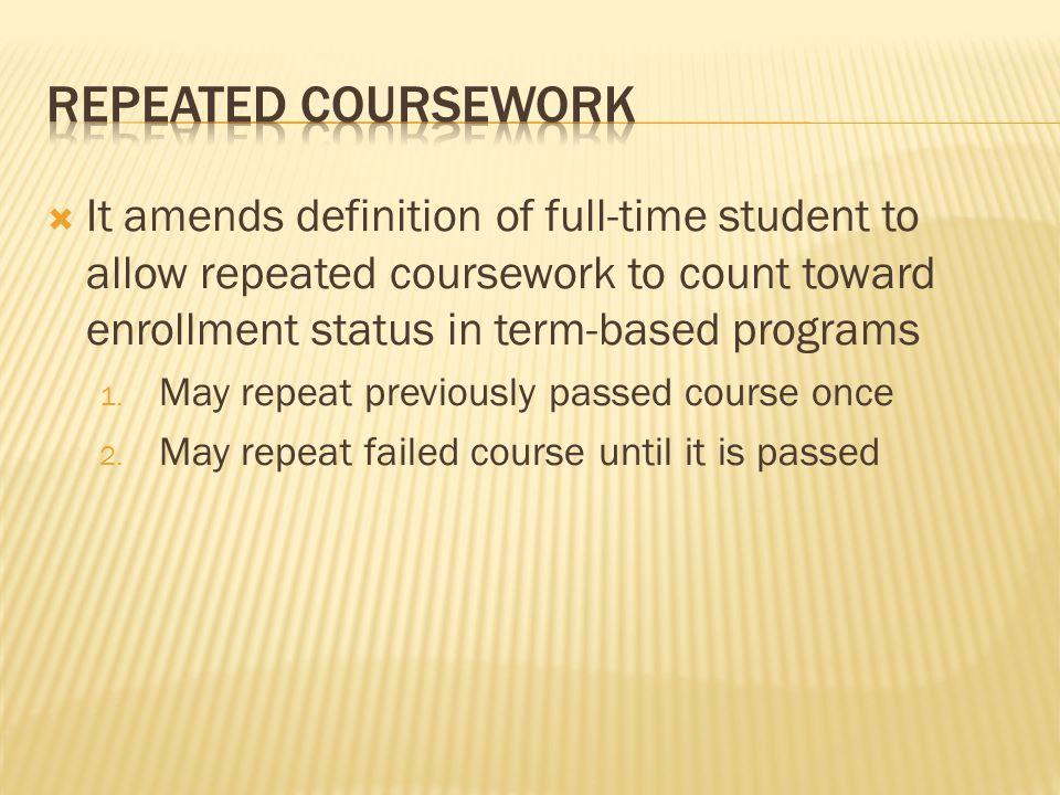 repeat coursework ifap