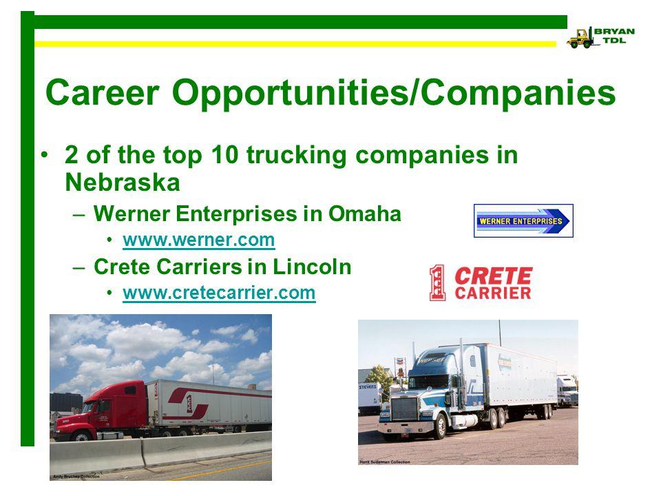 Trucking 101  Career Opportunities/ Companies Trucking