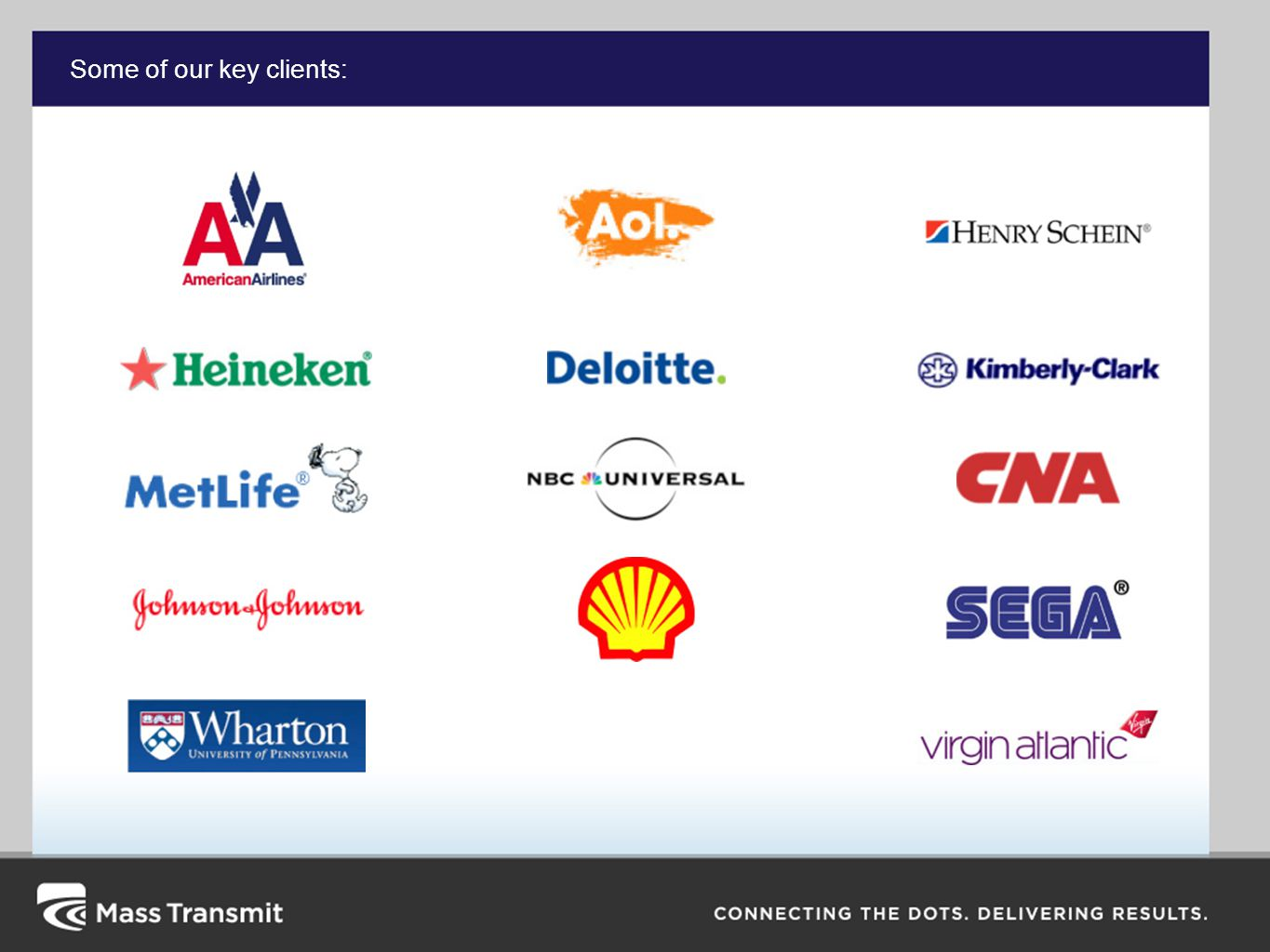 Some of our key clients:
