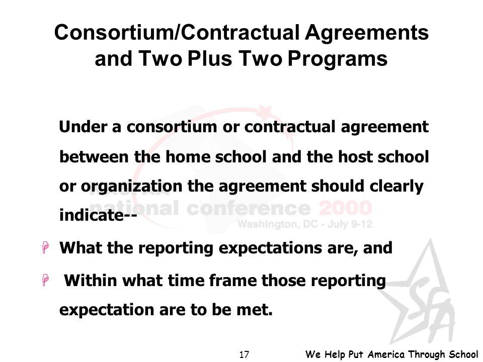 We Help Put America Through School 1 Consortiumcontractual