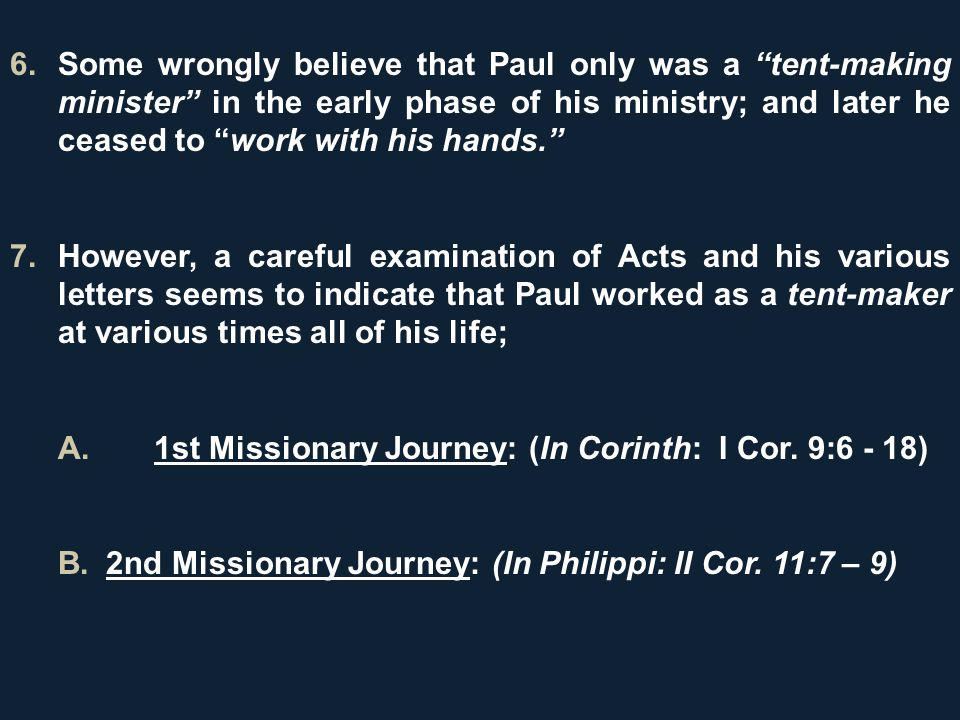 Some wrongly believe that Paul only was a tent-making minister in the  sc 1 st  SlidePlayer & TENT MAKING MINISTRY. INTRODUCTION 1.The Apostle Paul set us an ...