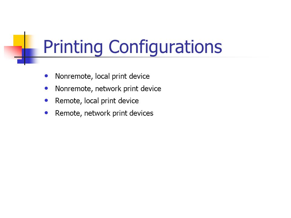 Printing Terminology  Requirements for Network Printing At