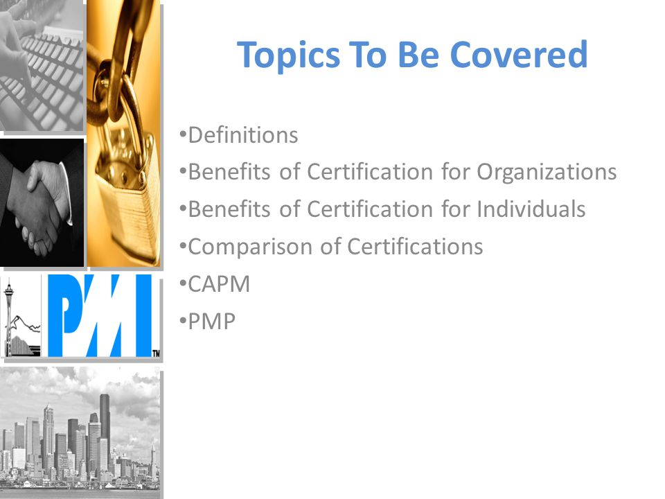 Demystify Pmp And Capm Certifications Pmi Puget Sound Chapter