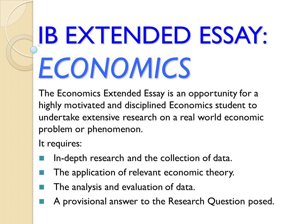 economics ib extended essay