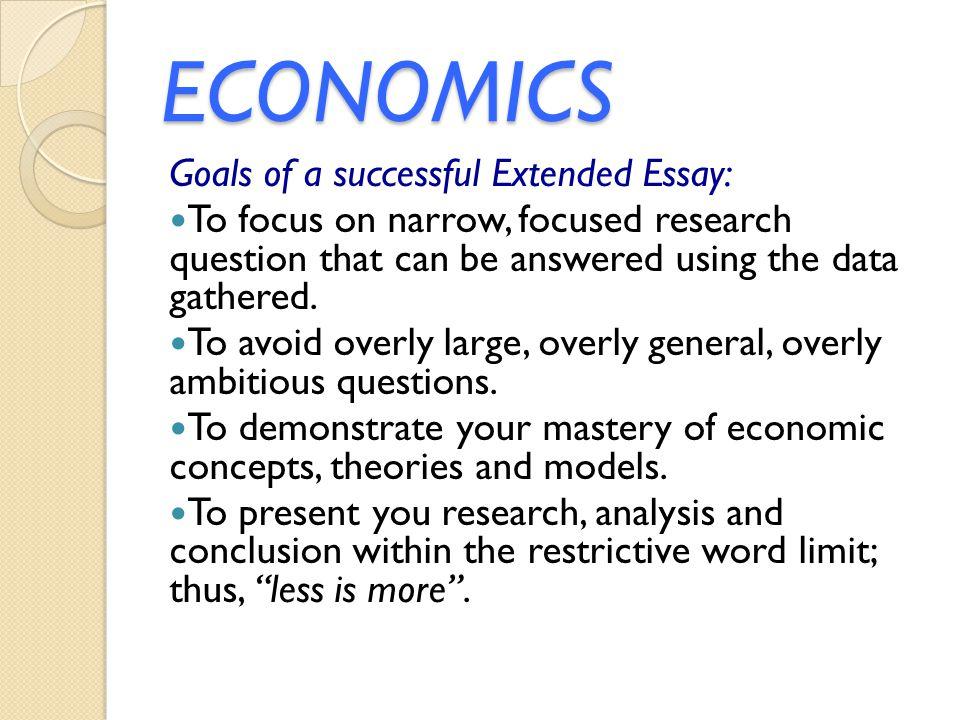 economics extended essay conclusion