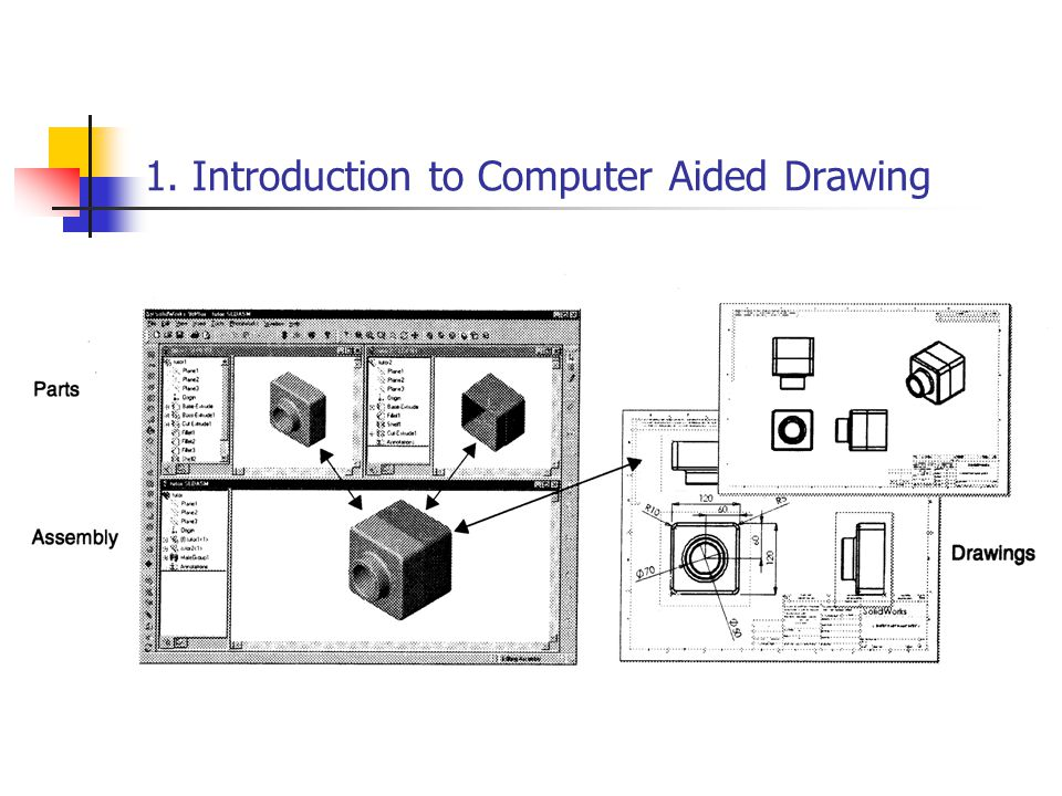1 Introduction To Computer Aided Drawing What Is Cadd Computer Aided Drawing Is A Technique Where Engineering Drawings Are Produced With The Assistance Ppt Download