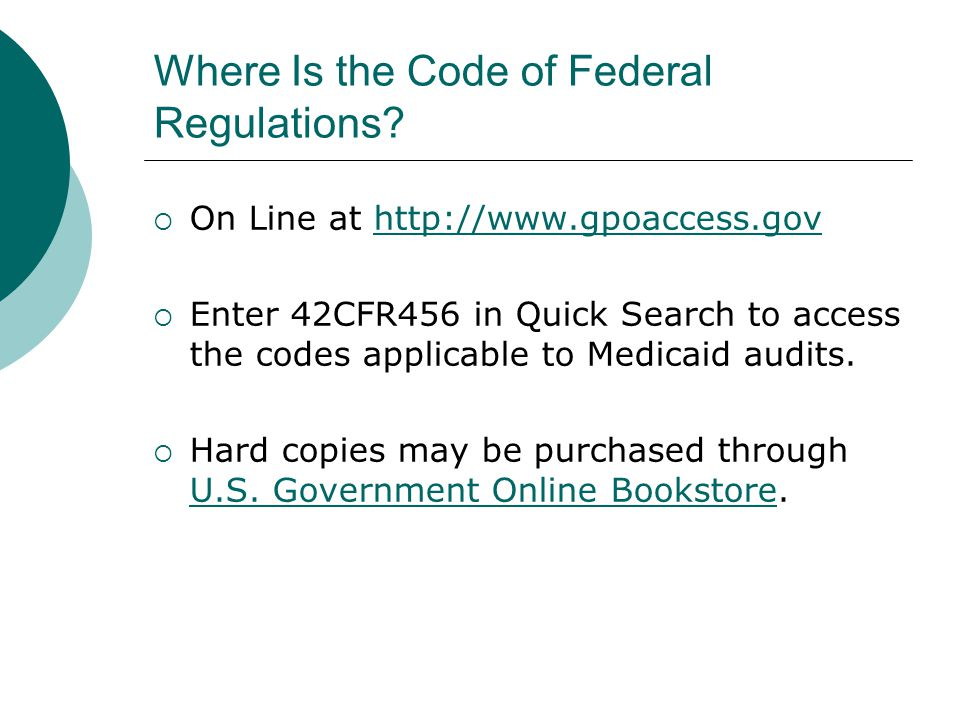 Where Is the Code of Federal Regulations.