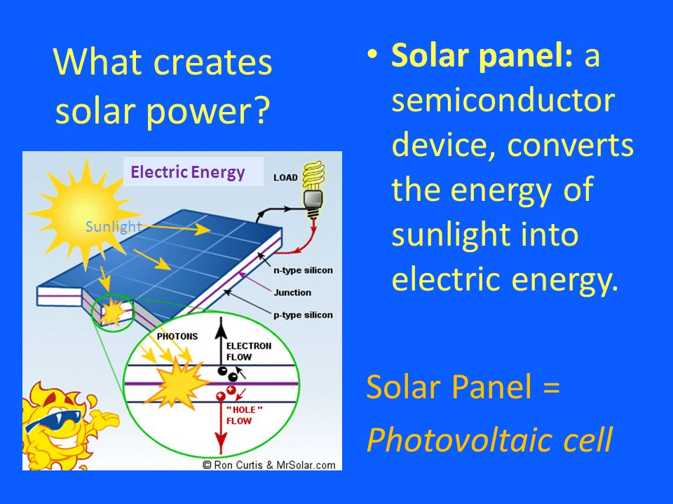 What creates solar power.
