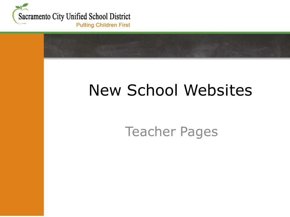 New School Websites Teacher Pages