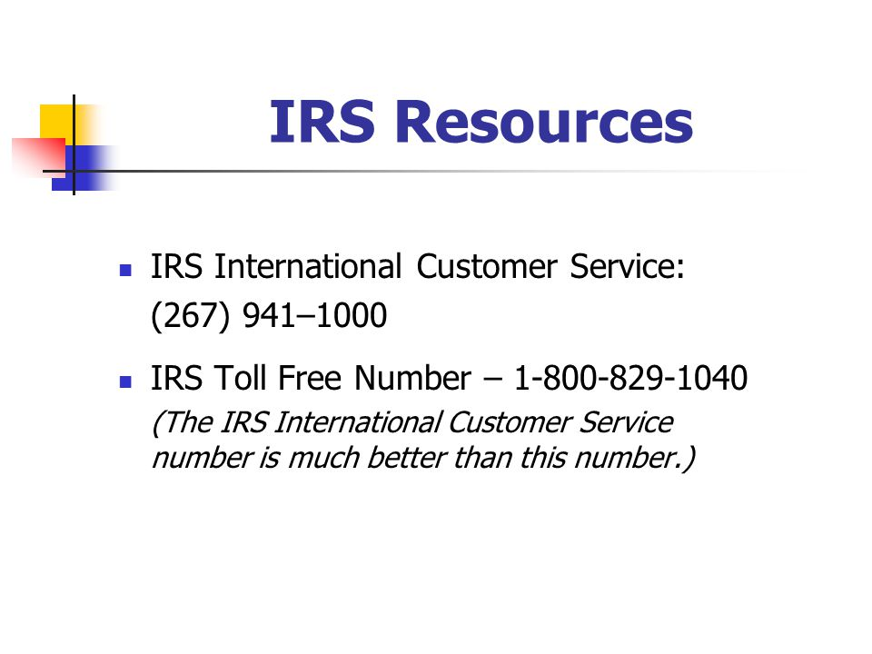 irs customer service number