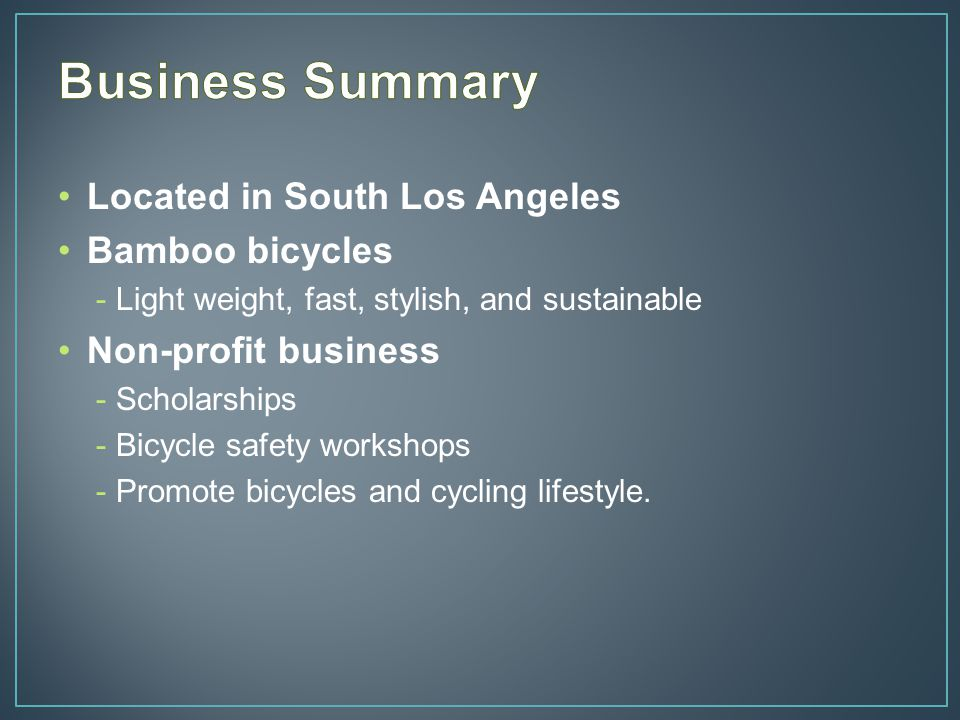 Mission Statement : Advocate cycling in the Los Angeles