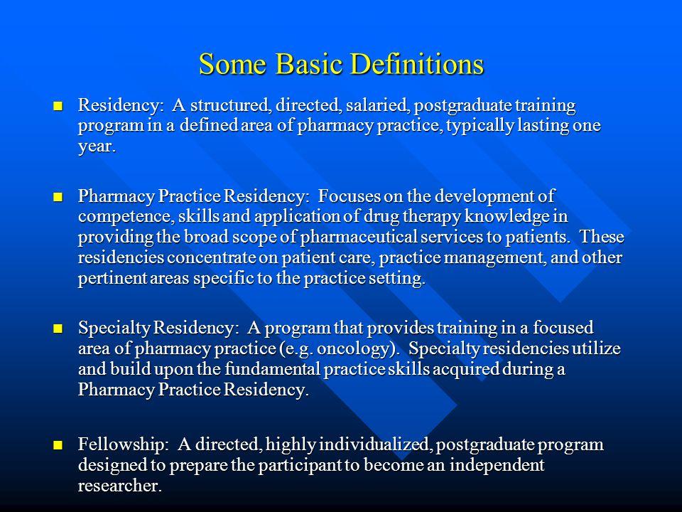 Post-Graduate Opportunities Steve Fijalka, Pharm D