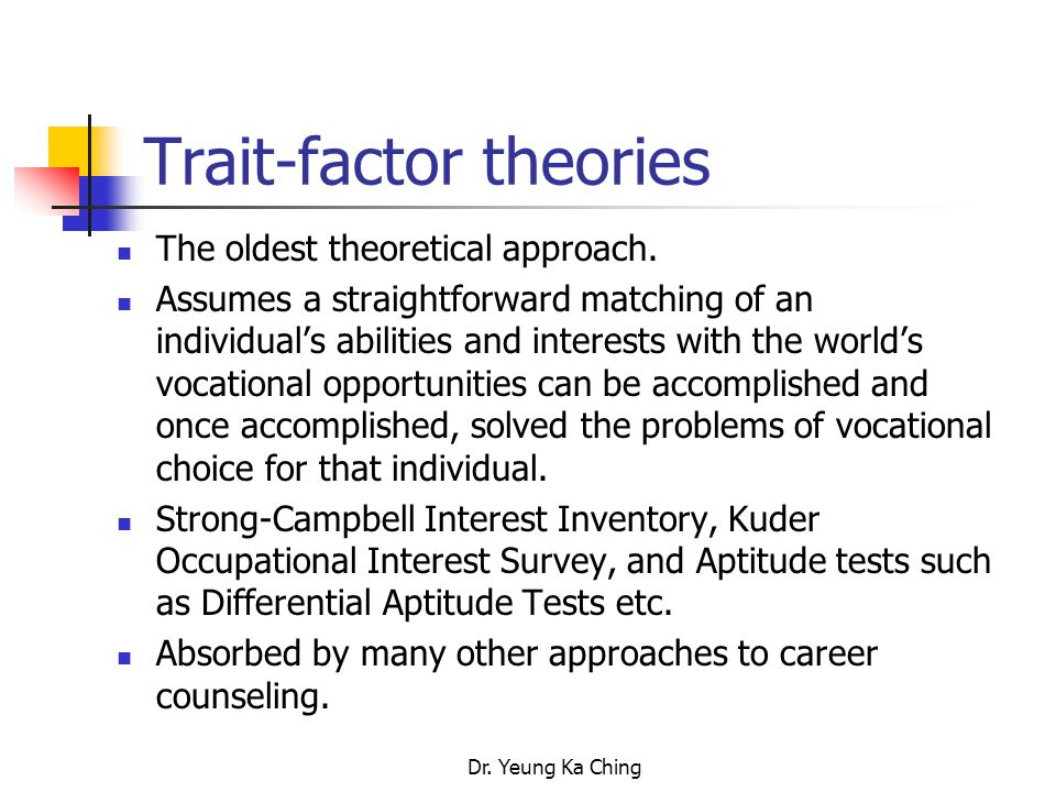 trait factor theory