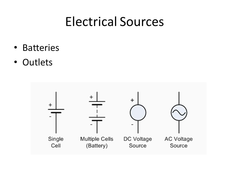 Electrical Sources Batteries Outlets