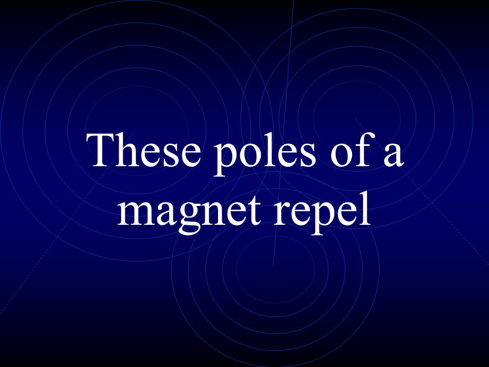 These poles of a magnet repel