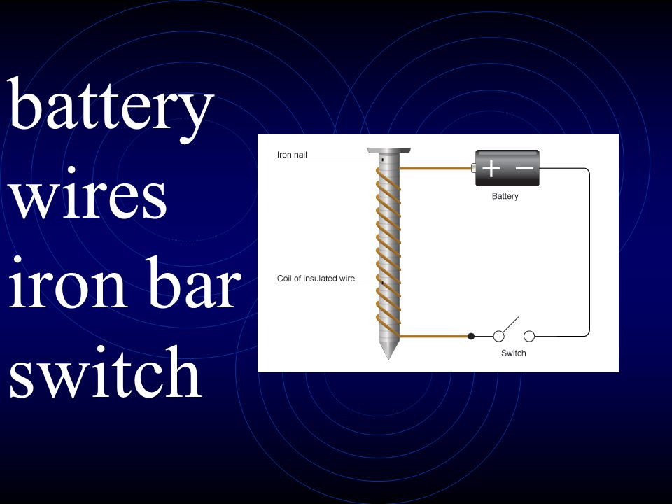 battery wires iron bar switch