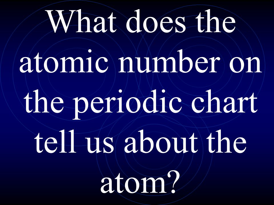 What does the atomic number on the periodic chart tell us about the atom