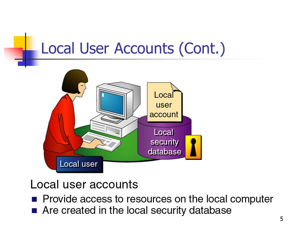 5 Local User Accounts (Cont.)