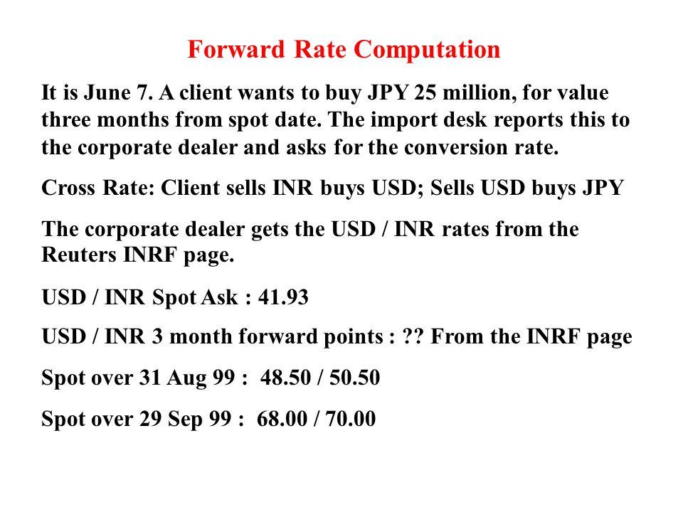 P G Apte Inter Bank Forward